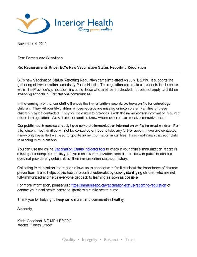 Parent Letter_Vaccine Status Reporting Regulation_MHO Goodison_Page_1